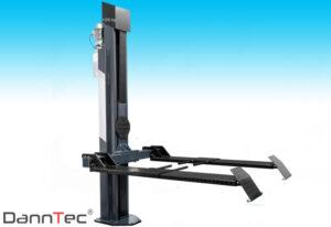 Elektrohydraulische 1-Säulen Hebebühne Kommunalgeräte Rasenmäher Quads Kleintraktoren