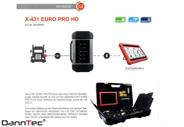 Launch X 431 PRO 5 HD LKW Diagnose